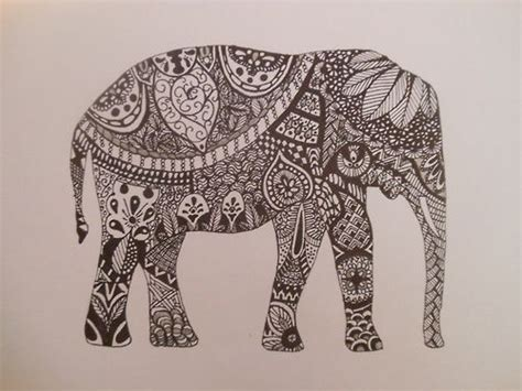 pattern elephant art zentangle tumblr zentangle patterns pinterest