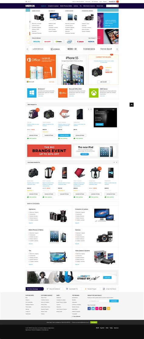 Big Commerce Templates by Meros Premium Responsive Bigcommerce Template Stencil