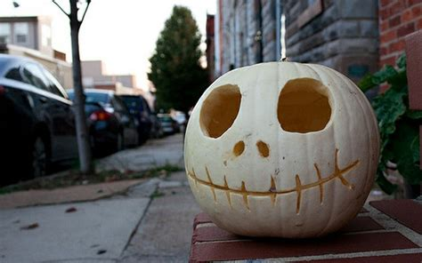 white halloween pumpkin carving creative ads and more