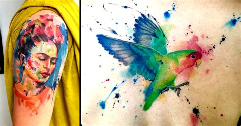watercolor tattoos heilbronn abstract watercolor tattoos by emrah de lausbub tattoodo
