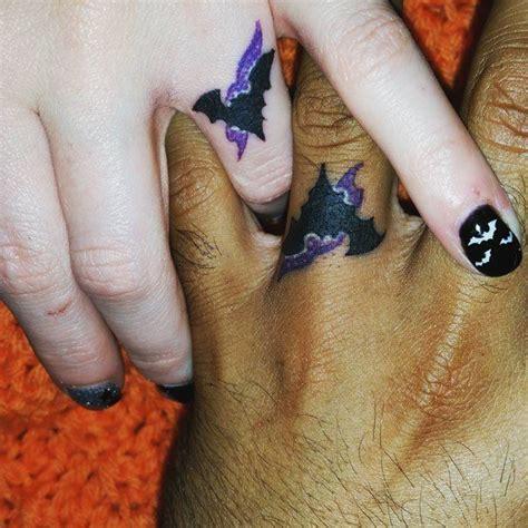 batman ring tattoo 30 touching and sweet wedding ring tattoos ritely