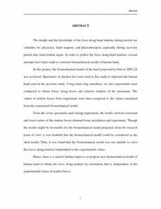 Sle Abstract For Research Paper Apa by Research Paper Abstract Exle Sle Template