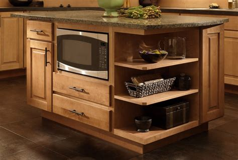 Kitchen Island Storage by Where To Put The Microwave In Your Kitchen