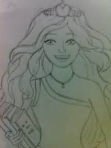 cousin barbie princess charm drawing barbie movies fan art 19364597 fanpop