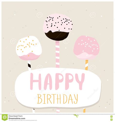 Creative Ideas To Wish Happy Birthday Cute Cake Pops With Happy Birthday Wish Greeting Card