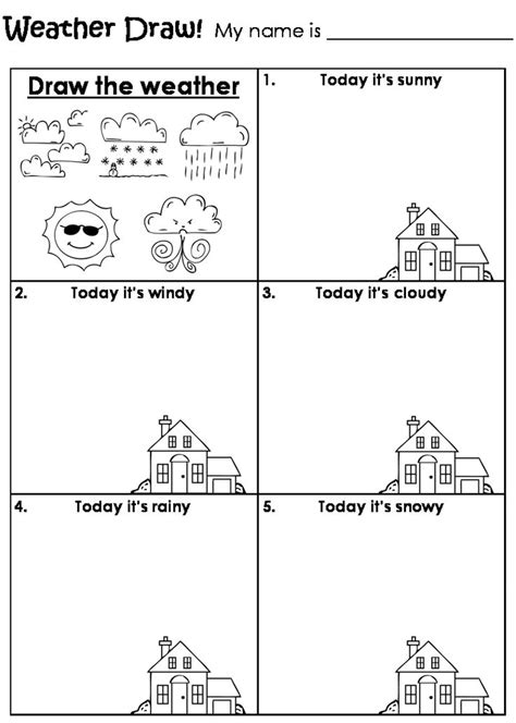 draw the weather worksheet teaching