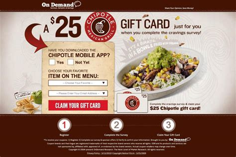 Chipotle Electronic Gift Card - landing page optimisation fundamentals etraffic