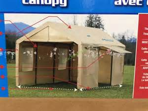 Costco Car Canopy by Canopy 10 X 20 Steel Frame Tan Cover With Side Walls