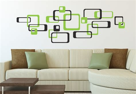 black wall sticker retro rectangle green black wall sticker decorate your walls