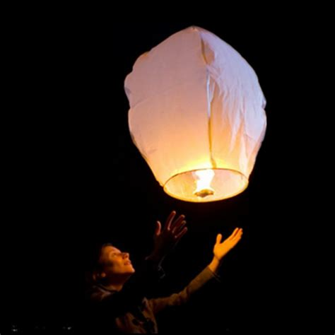 Make Paper Lanterns That Fly - 10pcs white paper lanterns sky fly candle