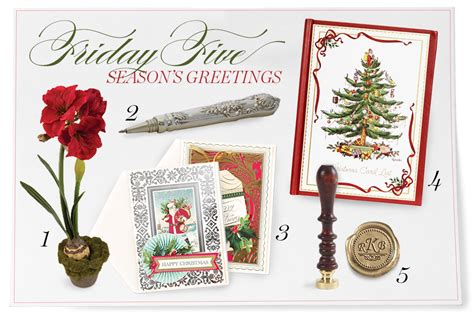 Gift Letter Calyx Friday Five Season S Greetings From Magazine