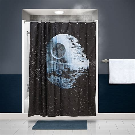 stars shower curtain finally the death star shower curtain of your dreams