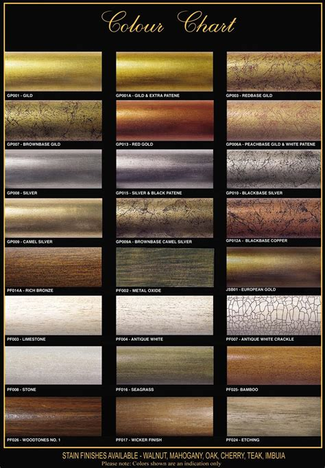 wood color paint colour chart gilded paint technique wood stain finishes