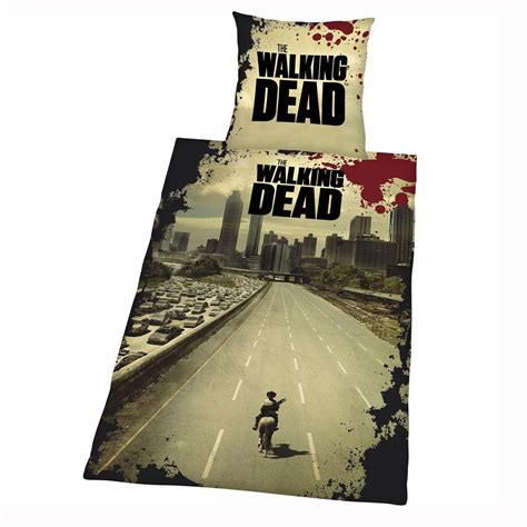 The Walking Dead Duvet Cover Set New Official Zombie Walking Dead Bed Set