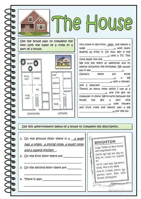 house printable exercises the house worksheet free esl printable worksheets made