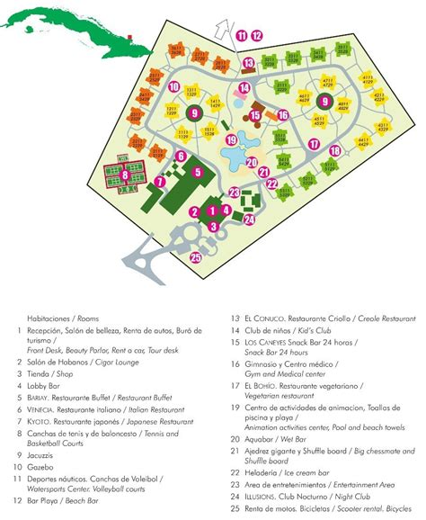 playa hotel map book playa costa verde hotel playa pesquero