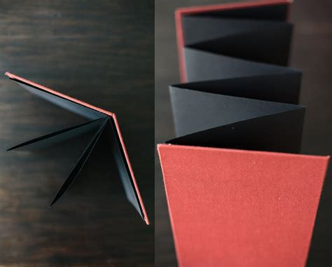 How To Make A Paper Accordion - bookbinding 101 accordion book design sponge