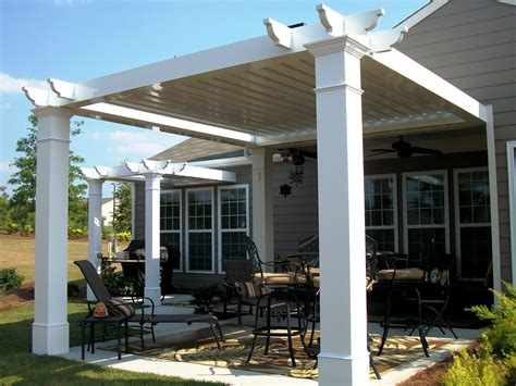 Patio Next To House Modern Simple Pergola And Gazebo Design Trends Attached To