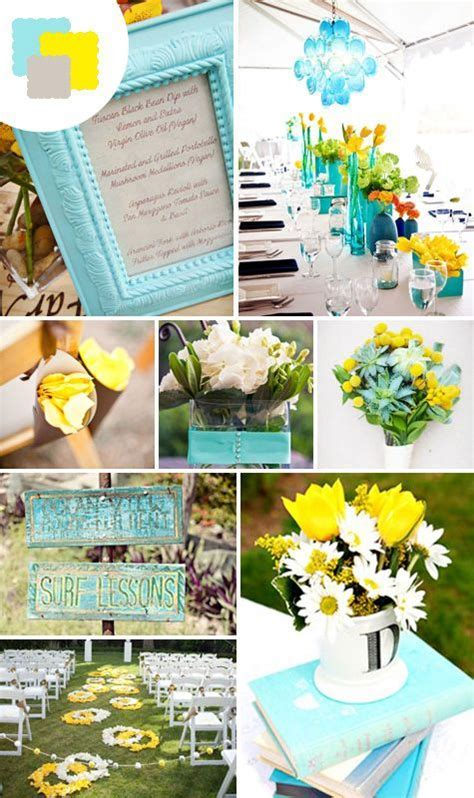 25  Best Ideas about Teal Yellow Wedding on Pinterest