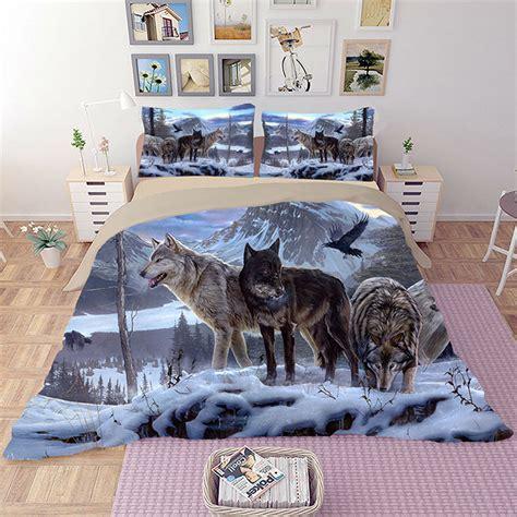 wolf comforter set twin hd wolf bedding set 3d animal beddings duvet cover set