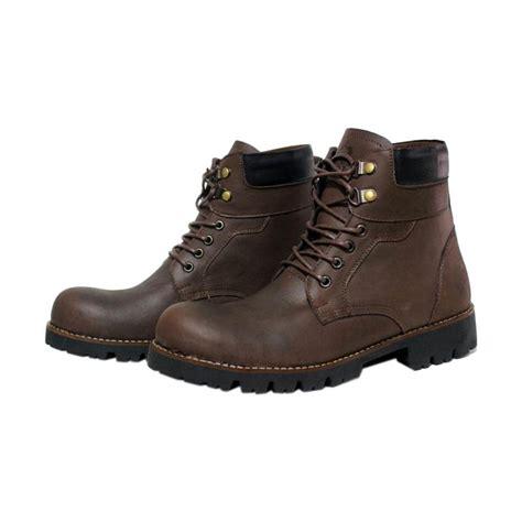 Catenzo Sepatu Safety Pria Lix066 Brown jual handmade wolf boston safety sepatu pria brown harga kualitas terjamin blibli