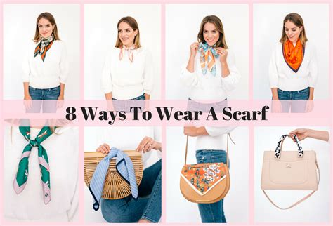 8 Cool Ways To Wear A Scarf 8 ways to wear a scarf gal meets glam