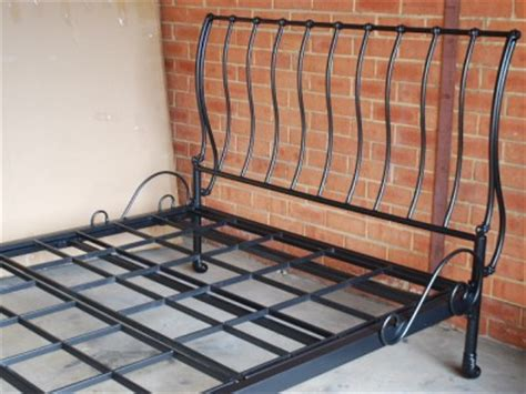 Iron Sleigh Bed Frames Made Classic Iron Sleigh Bed Frame Castings King 001