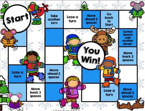 free printable winter board games winter reading comprehension board game games 4 gains