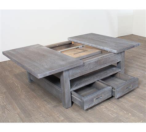 Ordinaire Table Basse En Bois Et Fer Forge #1: table-basse-allonges_1_1.jpg