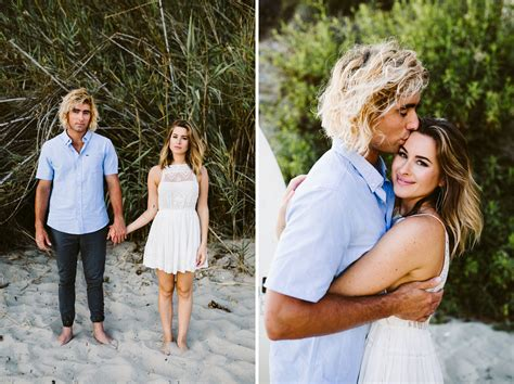 Engagement Photos by Sunset Engagement Photos In Laguna Green Wedding Shoes