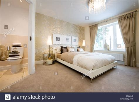 how to make an ensuite in a bedroom beautifully decorated bedroom with a double bed and