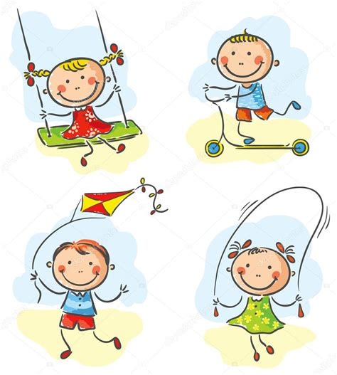 imagenes infantiles libres actividades y juegos al aire libre para ni 241 os vector de
