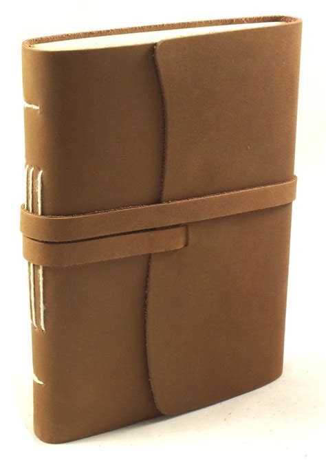 Handmade Leather Gifts - engraved handmade leather journal gift set