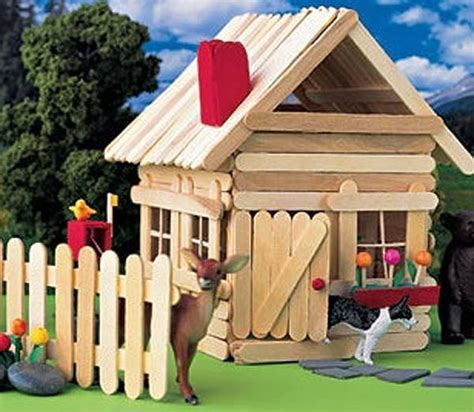 imagenes de casitas con palitos de helados manualidades con palillos una casa muy f 225 cil