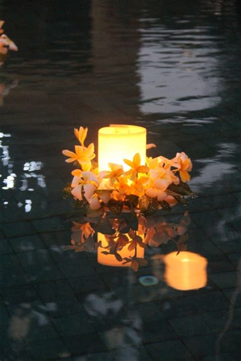 lantern floating candles bali tropical florist