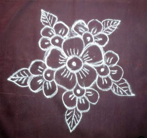 design flower kolam with dots simple flower kolam with dots best image wallpaper