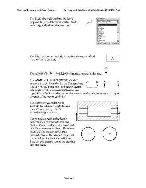 B Drawing Size by Solid Work Drawing