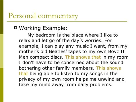 Paragraph On Bedroom In What Is Commentary