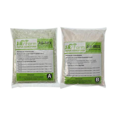 Harga Nutrisi Ab Mix Untuk Hidroponik jual jirifarm hidroponik 08256 ab mix 5 l konsentrat
