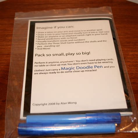 magic doodle pen revealed magic doodle pen by alan wong martin s magic collection