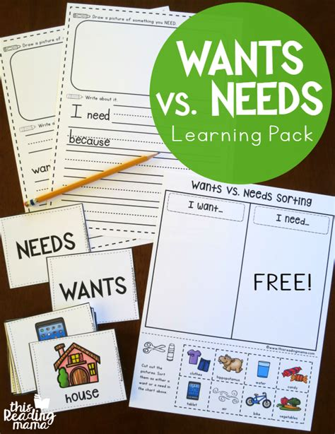 kindergarten activities needs and wants best 25 needs vs wants ideas on pinterest kindergarten