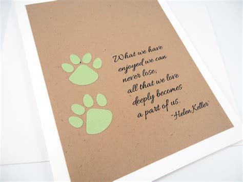 pet sympathy card loss of pet helen keller quote pet