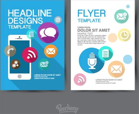 Design Of A Template Flyer Free Vector In Adobe Illustrator Ai Ai Vector Illustration Adobe Illustrator Flyer Template