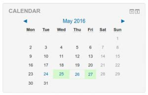 calendar moodledocs