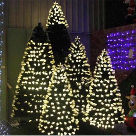 5ft supa nova fibre optic christmas tree with warm white