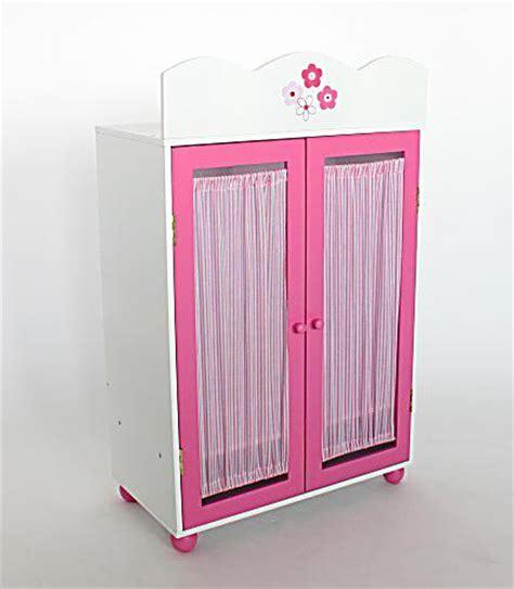 kleiderschrank puppe puppen kleiderschrank holz weiss rosa bestellen weltbild de