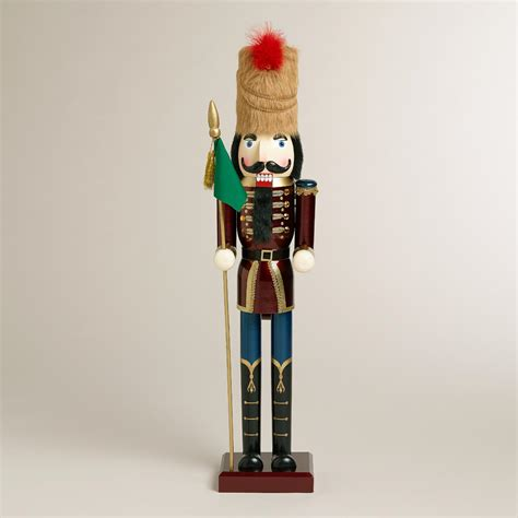 red extra large traditional nutcracker world market