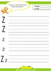 7 alphabet worksheets trace and print letter z
