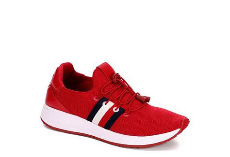 red tommy hilfiger womens twrhena casual  broadway