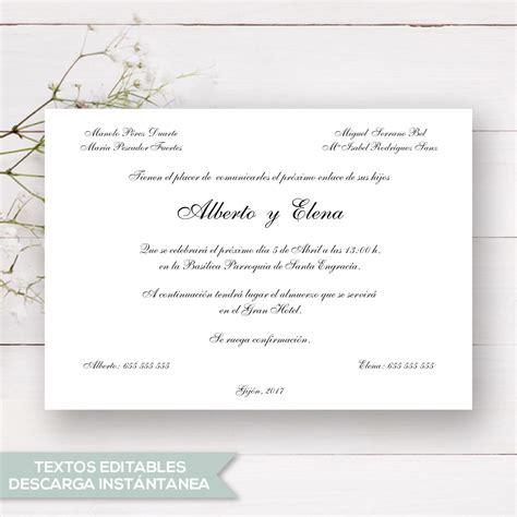 para editar e imprimir gratis invitaciones de boda para